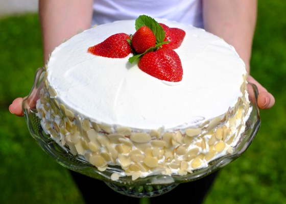 Pomladanska jagodna torta